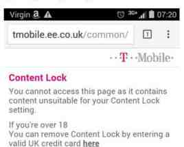 virgin via ee blocking