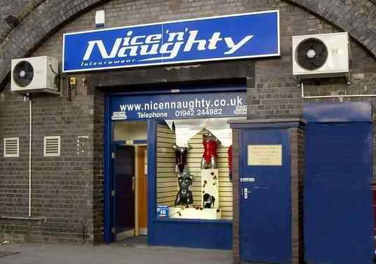 Nice n Naughty shop exterior in Wigan